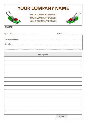 Gardeners NCR Quote Pads, 1 Column Lined